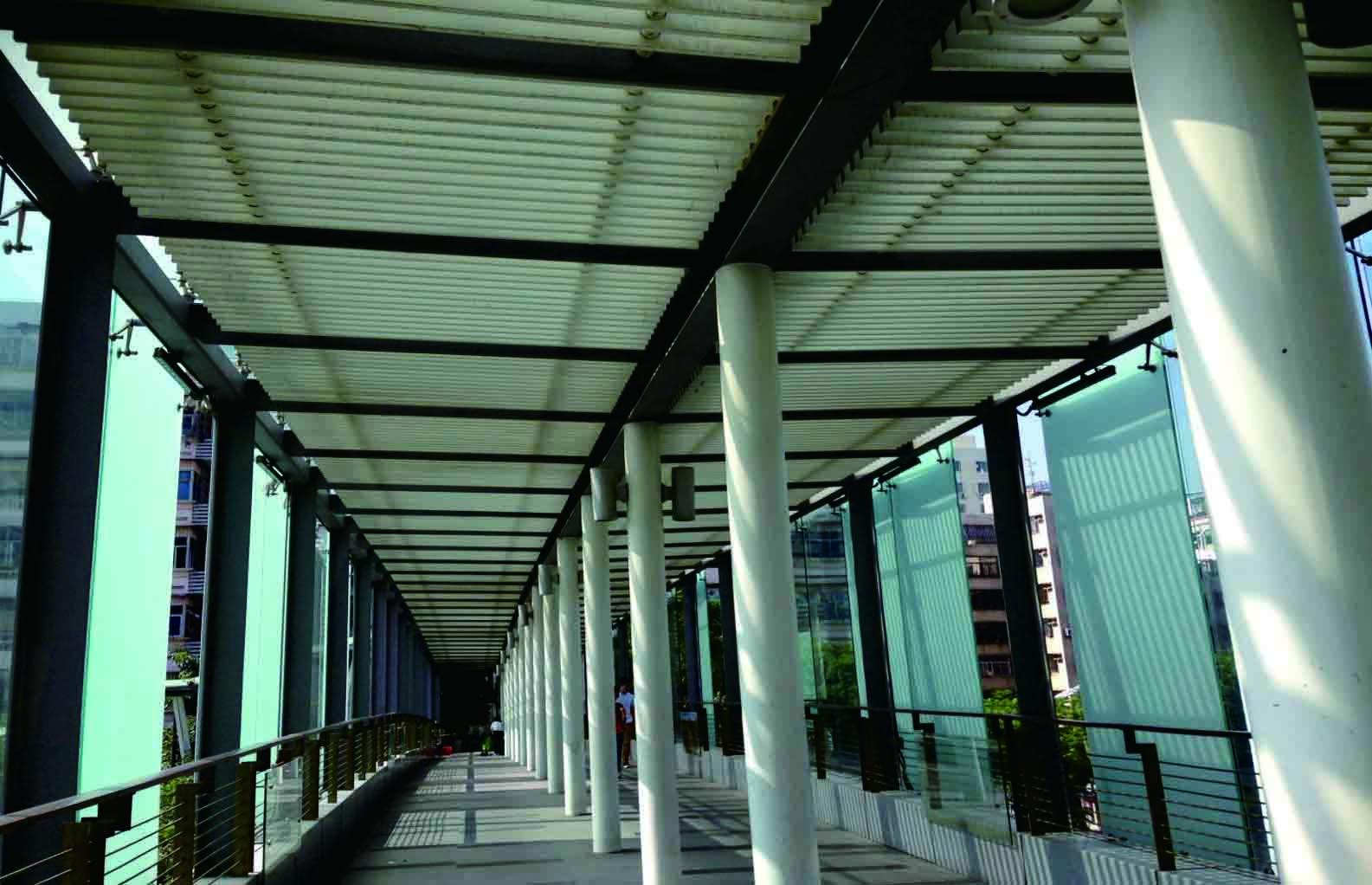 南山区路政天桥连廊钢结构及装饰工程