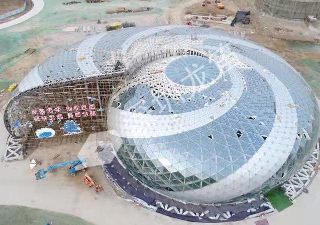 山东滨州北海海螺型大跨度钢结构工程